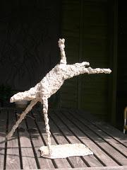 Paper pulp sculpture in progress